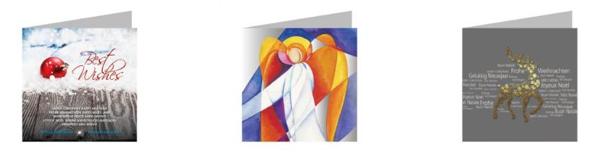 kerstkaart met logo